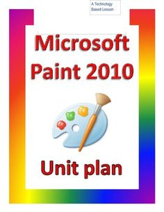 This is the introductory lesson in the Microsoft Paint Program. This lesson covers the pencil tool, color palate, eraser, new page tool, paint brush and its textures, line tool, and bendable line tool. This lesson is based on a 30 minute class period.