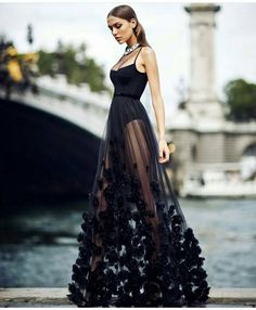 If you want to look sexy in an event or party, wearing a black mesh long dress is the right choice. In addition, with black, it makes you look elega… Evening Dresses, Prom Dresses, Formal Dresses, Long Dresses, Wedding Dresses, Elegant Dresses, Pretty Dresses, Couture Dresses, Fashion Dresses