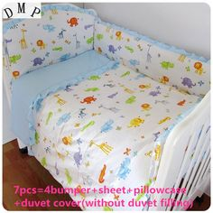 Bright Promotion 4bumpers+sheet 5pcs Children Bedding Set Piece Crib Bumper Crib For Baby,