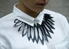 TouChé #Upcycled Jewellery. Birds Chest (Fuglepryd) made from innertubes from bicycle and cars