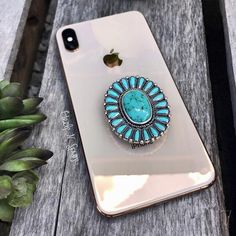 Pocahontas Phone Grip ~ Turquoise – Heels N Spurs Turquoise Heels, Turquoise Rings, Cowgirl Bling, Cowgirl Style, Gypsy Cowgirl, Western Style, Western Wear, Cell Phone Wallet, Cowgirl Outfits