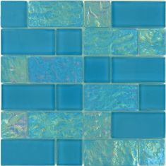 Artistry In Mosaics Unique Shapes Blue Glass Unique Shapes Tile Glossy & Iridescent GT8M4896B12