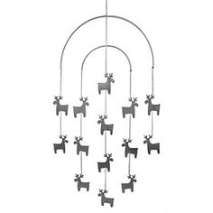 Pentik reindeer mobile Scandi Christmas, Mobiles, Finland, Reindeer, Cheer, Design Ideas, Ceiling Lights, Black And White, Decoration