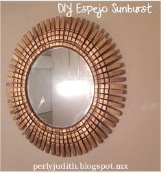 """Están muy de moda los espejos """"Sunburst"""" y """"Starbust"""", hay muchas opciones para comprarlos pero también hay muchas para poderlos hacer de un..."""
