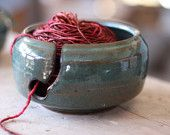 Yarn Bowls - if I could crochet, I would definitely have this!!