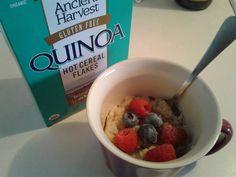Sweet or savory hot quinoa flakes
