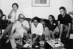 Tom Jobim, Vinícius, Ronaldo Boscoli, Roberto Menescal e Carlos Lyra.