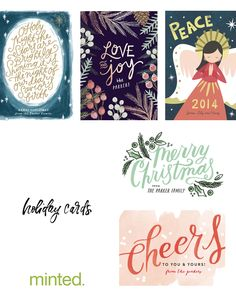 Minted, holiday cards, art prints, independent artists, gold foil, gallery wall, holiday gifts, watercolor, Christmas, New Years 2015