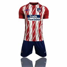 24dfb26f0 17-18 Cheap Adult Atletico Madrid Red Home Soccer Jersey Unifroms Training  Sport Tracksuit Man