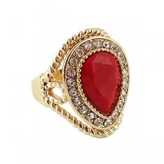 2014 New Arrival Fashion Aneis Femininos Red Black Blue Green Color Retro Rings Jewelry From India