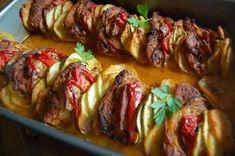 Carska uczta z łopatki , pomysł na obiad - Ogrodnik w podróży Tortellini, Low Carb Recipes, Baked Potato, Sausage, Grilling, Paleo, Pork, Food And Drink, Menu