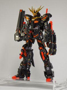 """Custom Build: MG 1/100 Banshee """"Black Shukuen"""" - Gundam Kits Collection News and Reviews"""