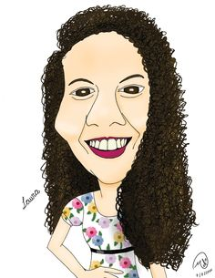 Caricature for Laura's Birthday made by me.  Look up for more at melicaricaturas.blogspot.com