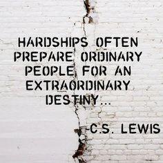 C.S. Lewis on hardships