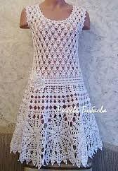 Znalezione obrazy dla zapytania sukienki szydełkowe schematy