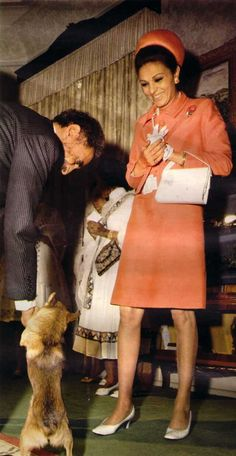 The Emperor of Ethiopia in a friendly moment with Empress Farah Pahlavi of Iran, during the State visit of the Shah and Empress of Iran to Ethiopia in 1968.