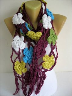 SALE  990 USD-Crochet shawl scarfwinter Neck by MebaDesign on Etsy