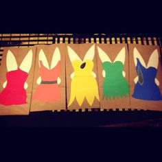 Disney Fairies goodie bags as a craft simple and easy. Rosetta Fawn Iridessa  TinkerBell Silvermist