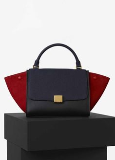 Small Trapeze Bag in Multicolour Calfskin Satin and Baby Grained ...