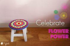 Flower Power Stoolcover Inspire Others, Bellisima, Flower Power, Goodies, Flowers, Pattern, Blog, Crochet Ideas, Stools