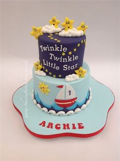 twinkle twinkle little star baby cake on birthday cakes cardiff area
