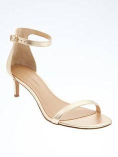9993a3356a19 ASOS Shoes - Asos metallic kitten heel sandals