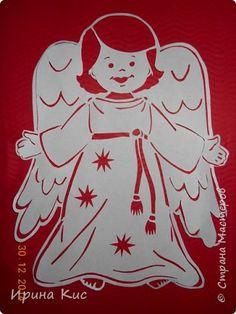 Поделка изделие Новый год Рождество Вырезание Вытынанки к Рождеству  Бумага фото 1