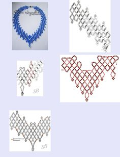 seed bead tutorials for beginners Bead Jewellery, Seed Bead Jewelry, Jewelry Making Beads, Seed Beads, Diy Necklace Patterns, Beaded Bracelet Patterns, Seed Bead Bracelets Diy, Seed Bead Necklace, Blue Necklace