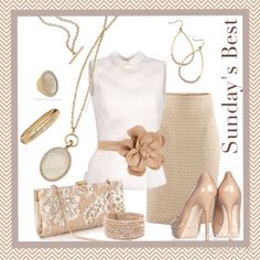 Neutrals are gorgeous and feminine and the AVERY NECKLACE from Premier designs compliments this look!!  #pdstyle