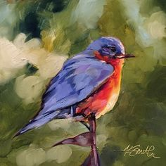 """""""Bluebird"""" is an original oil painting by Kim Myers Smith"""