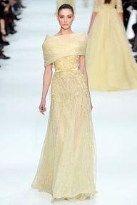 2013 Pantone Color | Lemon Zest - Elie Saab -Spring 2012 - #designer #lemonzest #gowns
