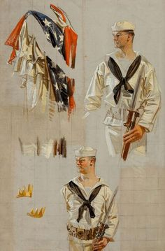 More studies by Joseph Christian Leyendecker (American, 1874-1951).  Things of beauty I like to see