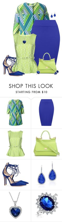 """""""Green to Blue"""" by laaudra-rasco ❤ liked on Polyvore featuring P.A.R.O.S.H., WearAll, Darling, Dolce&Gabbana, Gianvito Rossi, Amanda Rose Collection and Bling Jewelry"""