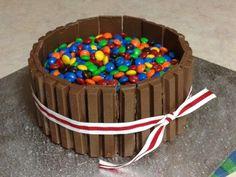 Smarties and Kit Kat cake