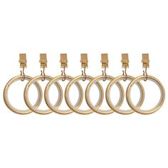 product image for Umbra® Cappa Clip Rings in Brushed Brass (Set of 7)