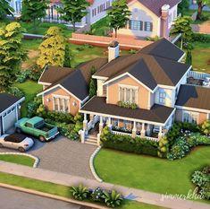 Sims 4 Teen, Sims Four, Sims Cc, Sims 4 House Plans, Sims 4 House Building, Sims 4 Houses Layout, House Layouts, Minecraft Building Designs, Muebles Sims 4 Cc