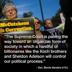 "With the Supreme Court striking another major blow against long-standing restrictions on campaign contributions, Sen. Bernie Sanders on Thursday said Republicans stand to gain the most. ""They understand that most of the money, not all, but most of the money will be coming into Republican coffers,"" Sanders told MSNBC's Chris Jansing. ""What this is all about, what the so-called freedom of speech is about, is allowing the wealthiest people in this country ..."