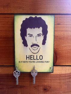 Hey, I found this really awesome Etsy listing at https://www.etsy.com/listing/259351579/sale-key-holder-lionel-richie-key-holder