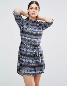 Buy it now. AX Paris Elephant Printed Shirt Dress - Navy. Dress by AX Paris, Printed woven fabric, Point collar, Button placket, Belted waist, Regular fit - true to size, Hand wash, 100% Polyester, Our model wears a UK 8/EU 36/US 4 and is 176cm/5'9.5 tall. , vestidoinformal, casual, camiseta, playeros, informales, túnica, estilocamiseta, camisola, vestidodealgodón, vestidosdealgodón, verano, informal, playa, playero, capa, capas, vestidobabydoll, camisole, túnica, shift, pleat, pleated, d...