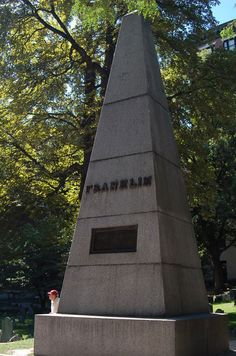 tombstone of parents of Ben Franklin.Granary Burial Grounds