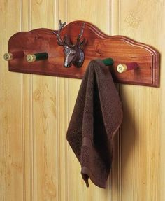 Wall-Rack-Hooks-Shotgun-Shell-Outdoorsman-Deer-Rustic-Cabin-Bath-Home-Decor