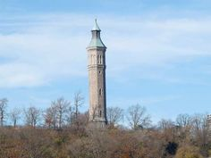 High Bridge Tower stands in High Bridge Park on the Manhattan side of the Harlem River east of East 174th Street.