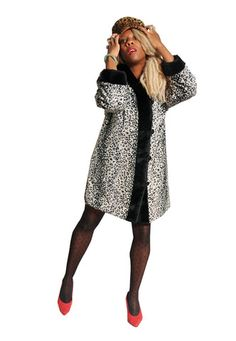 SEXY Vintage 80's Snow Leopard Print Faux Fur Coat - lovethebaroness vintage South London, Fashion Videos, Snow Leopard, Faux Fur, Vintage Outfits, Fur Coat, Sexy, Sweaters, Clothes