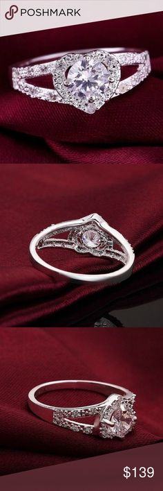Fawna ZLux Features:  Brand New & High quality.  Wonderful gift for you and your friends.  Color:Silver.  Size:6/7/8/9.  Package Included:  1 X Crystal Heart Ring. Fawna Jewelry Rings
