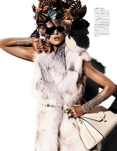 """""""Fur Regal Reasons"""" : Kendra Spears : Vogue Japan December 2012 : Giampaolo Sgura 
