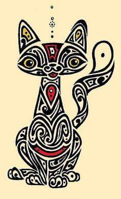 gato | caneta esferográfica e para retroprojetor sobre papel… | Flickr