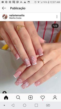 Cute Nails, Hair And Nails, Nail Designs, Nail Art, Nice, Makeup, Pink Nail, Light Nails, Nails For Wedding