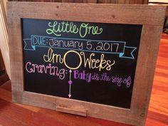 Pregnancy Tracker Chalkboard #pregnancy #chalkboard #pregnancytracker