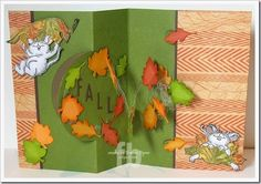 Fall Time created by Frances Byrne using Spiral Circle Pull Card; Circle Accordion Card – designed by Karen Burniston for Elizabeth Craft Designs; Pumpkin – Elizabeth Craft Designs