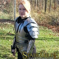 LARP Steel armor cuirass Lady Lanzelot(back and front) - Handmade - Larp steel armor is made of app. 1mm (20ga) steel LARP-Optima.   The…
